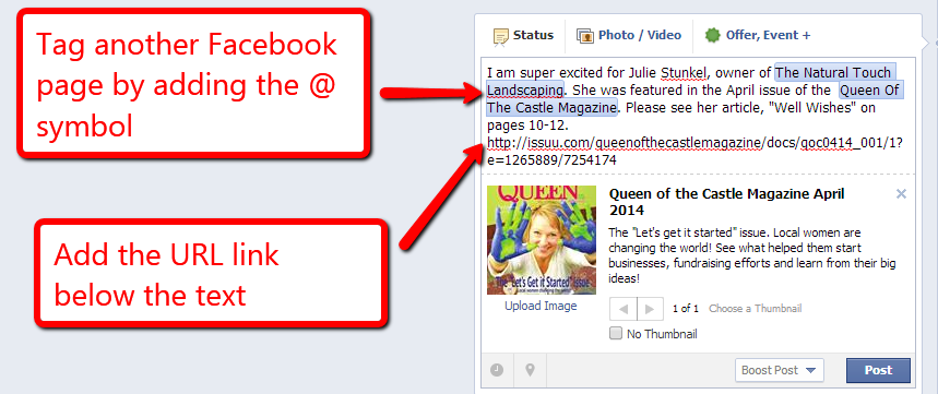 How to Post a Clean Looking Link on Facebook